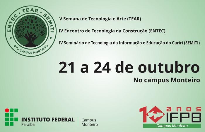 V TEAR - Semana de Tecnologia e Arte - IFPB campus Monteiro
